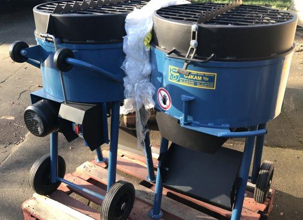 Mezclador de 80 litros apto para revoques de arcilla con paja corta y mortero de arcilla
