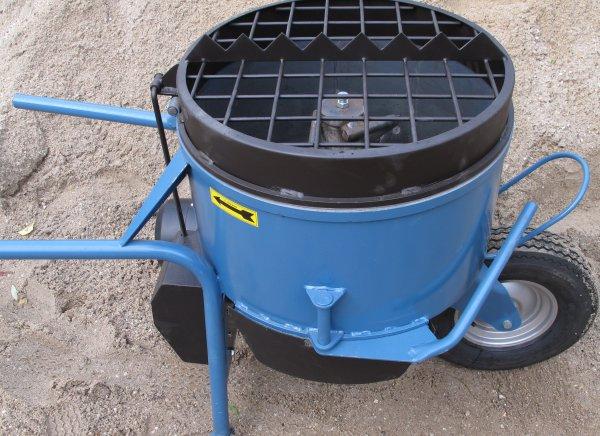 Batidora de carretilla 80 litros 60% de capacidad de mezcla 1,5 Una batidora fácil de mover.